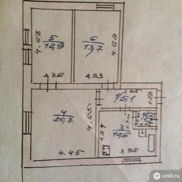 3-комнатная квартира 64,2 кв.м