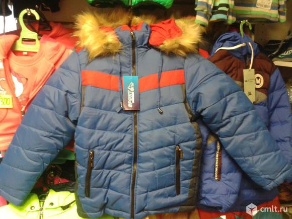 Куртка зимняя новая р.104-110. Фото 1.
