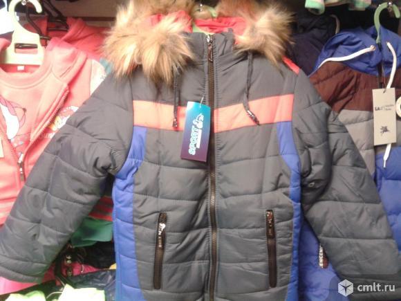 Куртка зимняя новая р.110-116