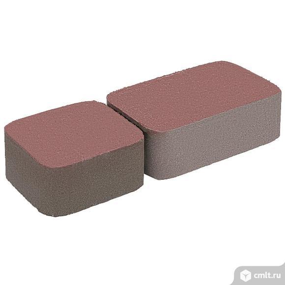 """Плитка тротуарная прессованная """"Старый город"""" 2 формы, красный, 60мм, упаковка (12,67м2). Фото 1."""