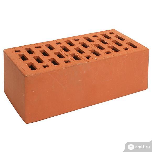 Кирпич лицевой керамический Браер, красный, гладкий, 1,4НФ, М150-175, 352шт/упак. Фото 1.