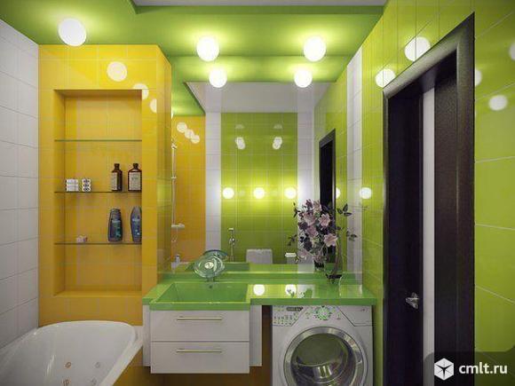 Ванная комната. Плитка, сантехника, электрика, обои
