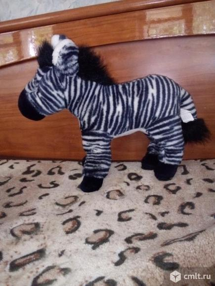 Мягкая игрушка зебра. Фото 1.
