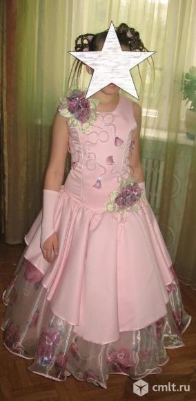 Продам выпускное, нарядное платье для девочки 10-12 лет, б/у, в отличном состоянии.