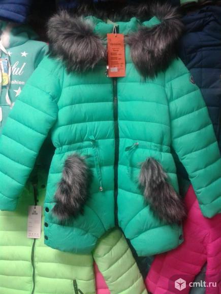 Куртка зимняя новая р.140-146. Фото 1.