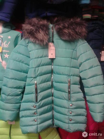 Куртка новая зимняя р.146-152. Фото 1.