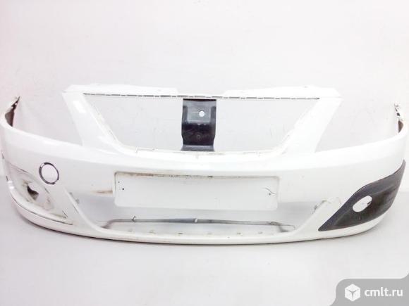 Бампер передний LADA LARGUS 12- 8450000244 б/у 4*. Фото 1.