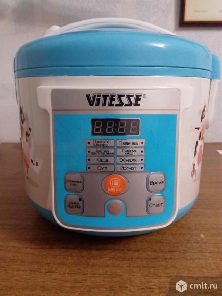 Мультиварка Vitesse VS-584 новая. Мощность 500 Вт. Объем чаши 3 л. Антипригарное покрытие, 8 программ, таймер, отсрочка старта. Ни разу не использовалась.