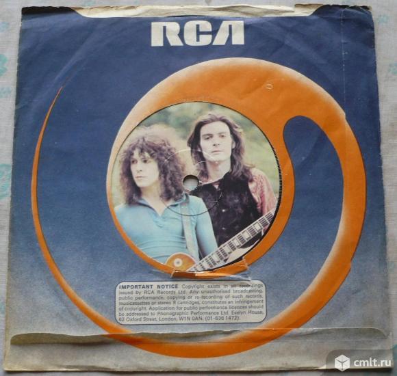 """Грампластинка (винил). Сингл [7"""" Single]. Marc Bolan & T. Rex. Jeepster // Life's A Gas. 1971. UK.. Фото 1."""