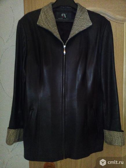 Куртка кожаная женская. Фото 1.