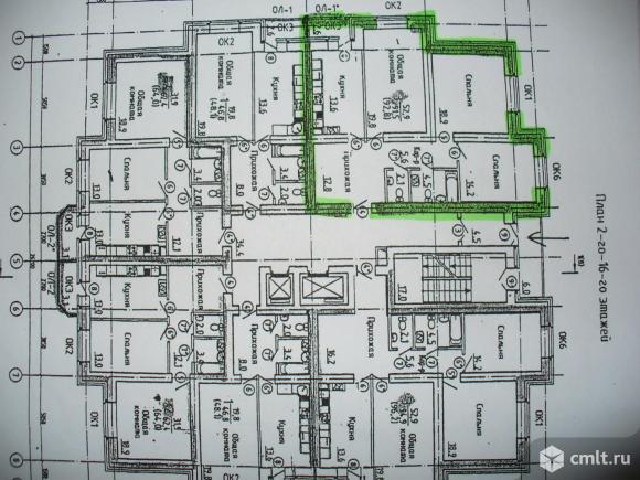 3-комнатная квартира 92,2 кв.м