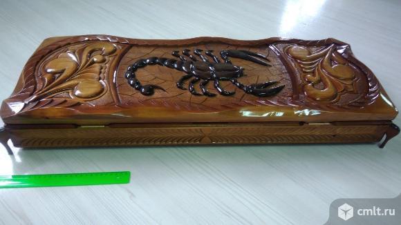 Резные шампурницы с комплектом шампуров 15 предметов