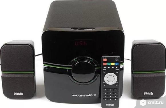 Как новые, гарантия FM, USB Колонки 2.1 Dialog Progressive AP-203