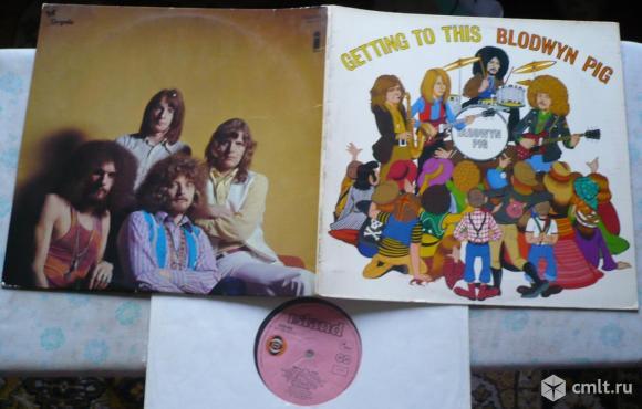 "Грампластинка (винил). Гигант [12"" LP]. Blodwyn Pig. Getting To This. 1970. Island Records. Germany.. Фото 1."