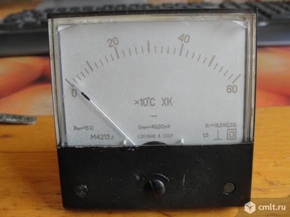 Измеритель температуры +термопара. Фото 1.