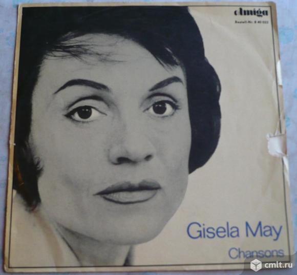 "Грампластинка (винил). Гигант [12"" LP]. Gisela May. Gisela May singt Chansons. 1965. Amiga. ГДР.. Фото 1."