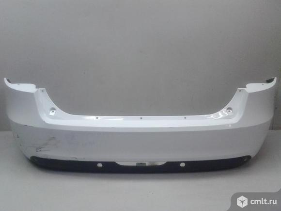 Бампер задний с накладкой под парк LADA VESTA 15- б/у 8450006699 8450008884 3*. Фото 1.
