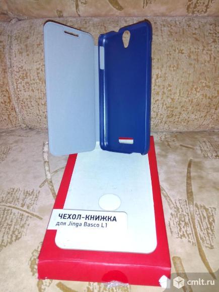 Чехол-книжка для jinga basco i1 blu. Фото 1.