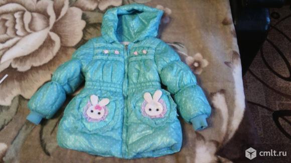 Теплая куртка для девочки 1-2 годика