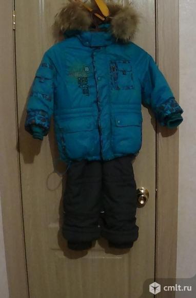 Зимняя куртка и полукомбинезон размер 104