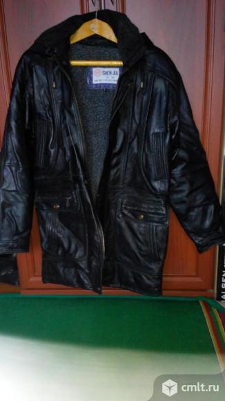 Куртка кожанная. Фото 1.