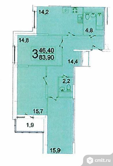 Продается 3-комн. квартира, 83.9 м2, Реутов