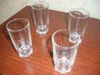 Стаканы стекло 4 штуки