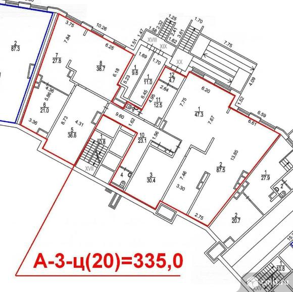 Продажа помещения свободного назначения 335 м2