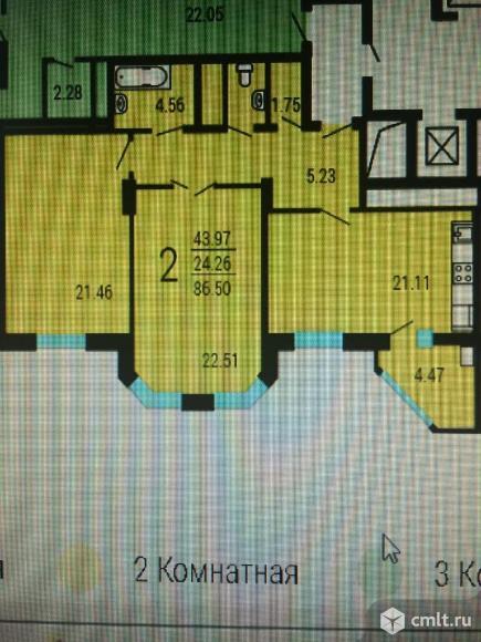 2-комнатная квартира 87 кв.м