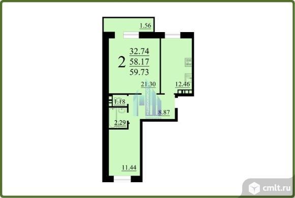 2-комнатная квартира 59,94 кв.м