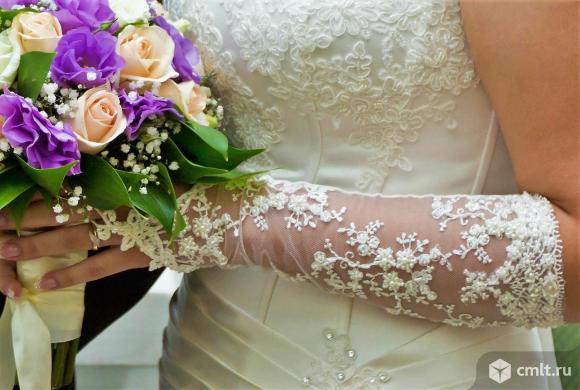 Свадебные перчатки, цвет айвори