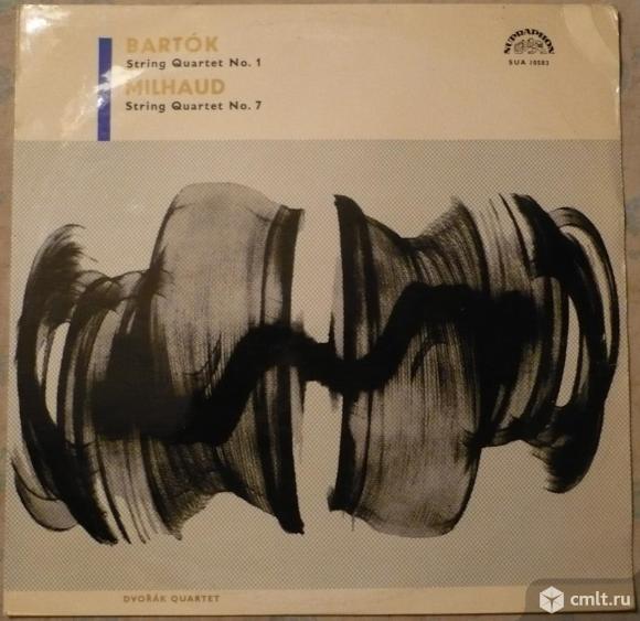 """Грампластинка (винил). Гигант [12"""" LP]. Dvorak Quartet. Bela Bartok / Darius Milhaud. Чехословакия.. Фото 1."""