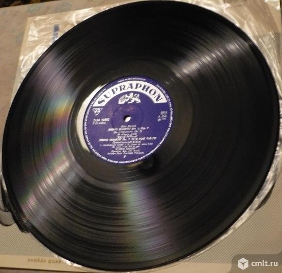"""Грампластинка (винил). Гигант [12"""" LP]. Dvorak Quartet. Bela Bartok / Darius Milhaud. Чехословакия.. Фото 8."""