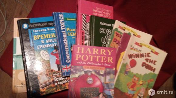 Пособия по изучению.словари и книги на английском языке