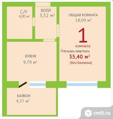 Продам 1-комн. квартиру 35.4 м2