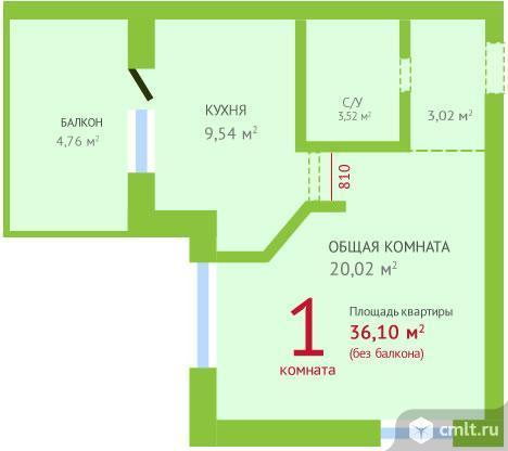 Продам 1-комн. квартиру 40.86 м2