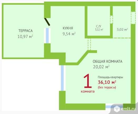 Продам 1-комн. квартиру 47.07 м2