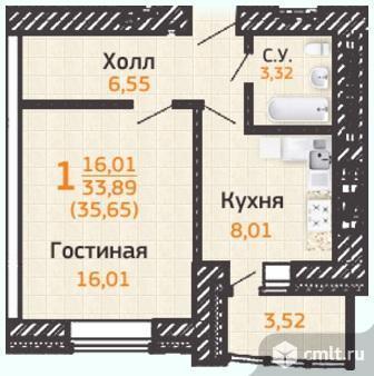 Продам 1-комн. квартиру 38.52 м2