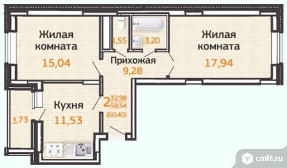 Продаю 2-комн. квартиру 64.03 кв.м
