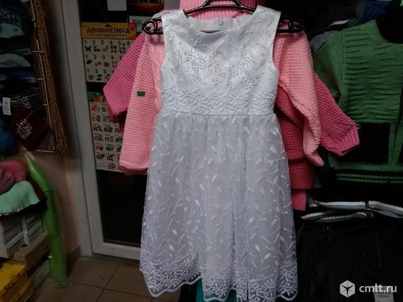 Новогоднее платье новое на 5-6 лет