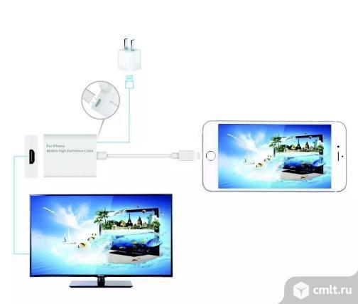 Переходник/кабель/адаптер/конвертер Lightning-hdmi для Apple