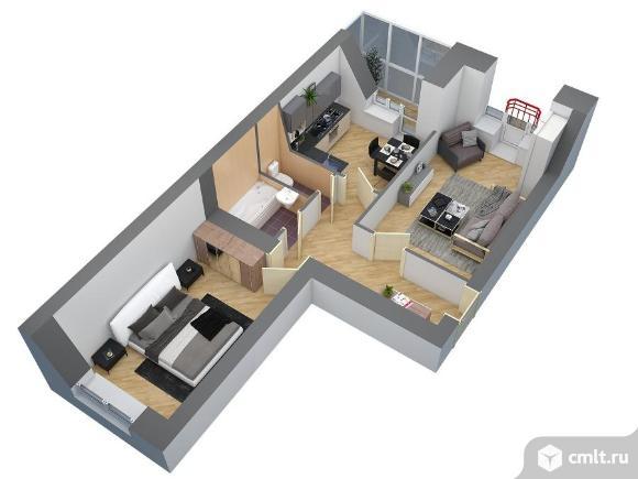 2-комнатная квартира 55,4 кв.м