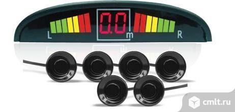 Парктроник AVS PS-126U (6 датчиков+коннекторы, цветной светодиодный дисплей с цифровым табло)