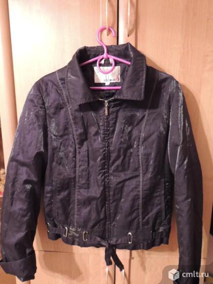 Куртка черная Shi Wodi на кролике