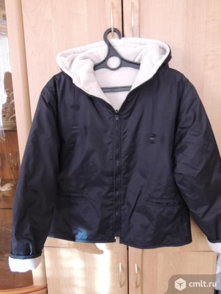 Куртка черная на флисе