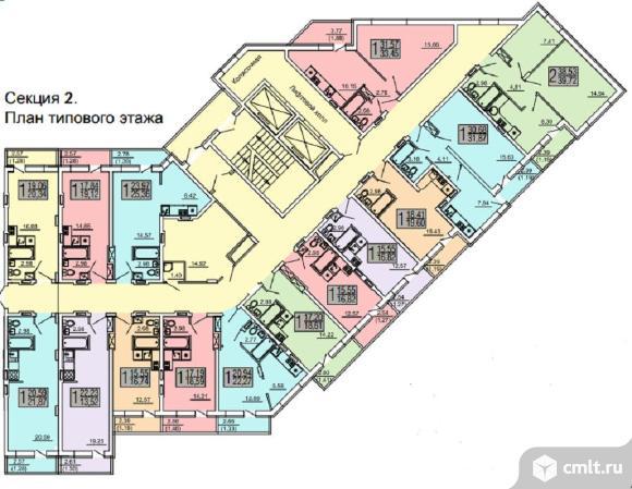 1-комнатная квартира 22,27 кв.м