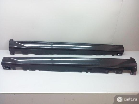 Накладка порога левого BMW X5 E70 07- 51777191241 б/у 4*. Фото 1.