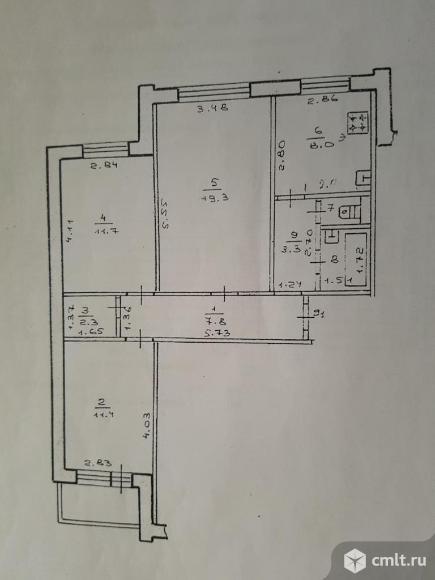3-комнатная квартира 67,4 кв.м