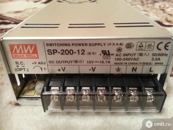 Блок питания 12В, meanwell SP-200-12 (новый). Фото 1.
