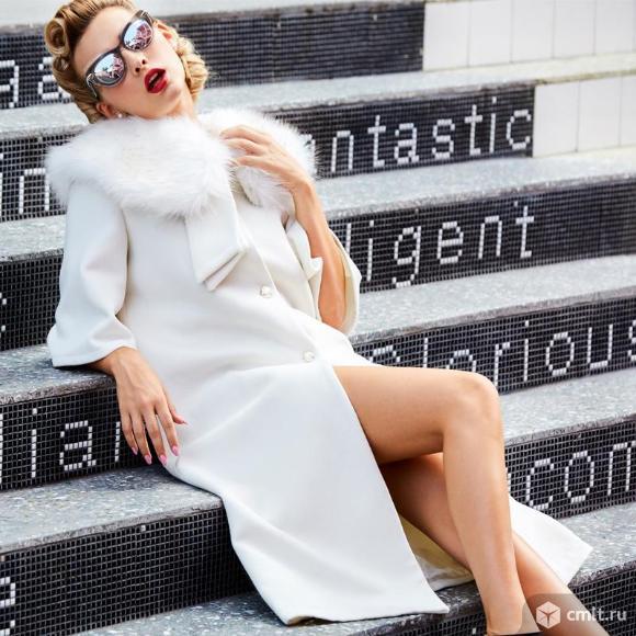 Белое пальто - моднейшее. Фото 1.